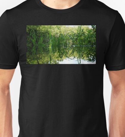 Grass Reflecting in the Water Unisex T-Shirt