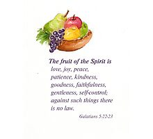 Healthy Fruit: Galatians 5:22-23 Photographic Print