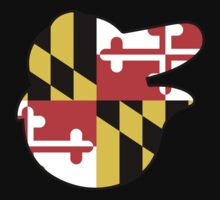 Baltimore Logo with Maryland Flag (No Transparency) Kids Clothes