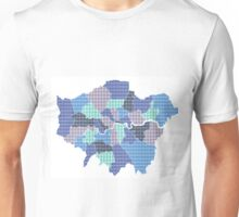London Boroughs Map - Blue Unisex T-Shirt