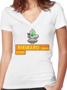 RIKI RKADE! Women's Fitted V-Neck T-Shirt