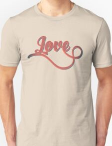 Love - Vintage Typography Girly Retro Tshirts and Gifts Unisex T-Shirt