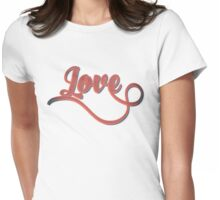 Love - Vintage Typography Girly Retro Tshirts and Gifts Womens Fitted T-Shirt