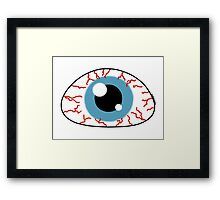 Killer eye - Halloween collection Framed Print