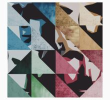 u2 pop triangles - pattern Kids Tee