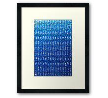 Aqua background, Oil painting Framed Print