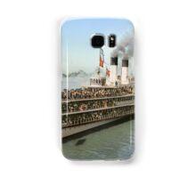 Sidewheeler Tashmoo leaving wharf in Detroit, ca 1901 Colorized Samsung Galaxy Case/Skin