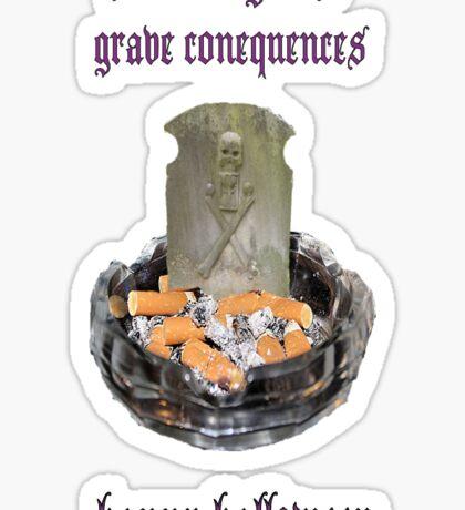 Anti-cigarette Sticker