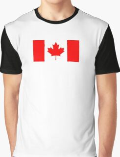 CANADA, CANADIAN, Canadian Flag, Canada Flag, Pure & Simple, National Flag of Canada, 'A Mari Usque Ad Mare' Graphic T-Shirt