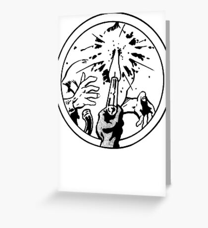 to the face Greeting Card