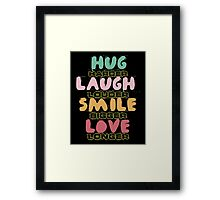 Hand drawn quotes Framed Print
