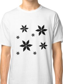 Black and White Flower Print Original Classic T-Shirt