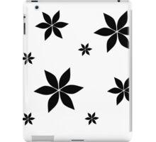 Black and White Flower Print Original iPad Case/Skin