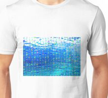 Oil painting of Aqua background and light rays Unisex T-Shirt