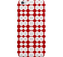 Red & White Geometric Abstract Design Pattern iPhone Case/Skin
