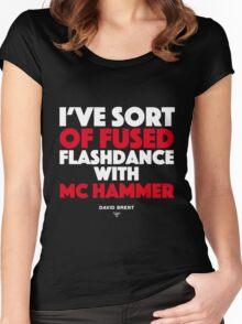 David Brent - Dancer Women's Fitted Scoop T-Shirt