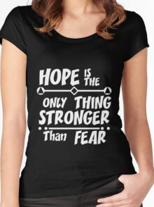 Positive quote typographic  Women's Fitted Scoop T-Shirt