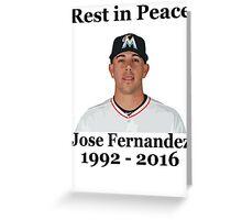 RIP Jose Fernandez Greeting Card