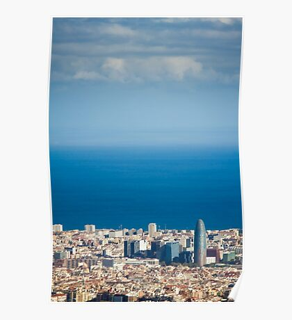 Barcelona City, Spain Poster