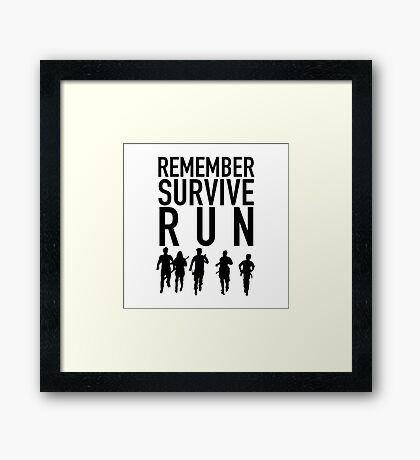 Remember & Run Framed Print