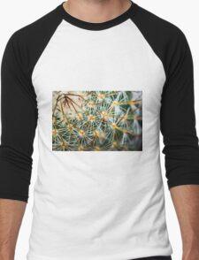 Mexican Round Cactus Men's Baseball ¾ T-Shirt