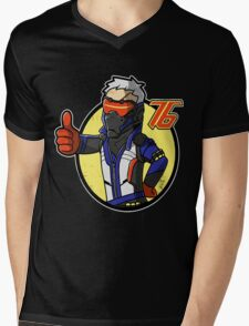 Overwatch 76. Mens V-Neck T-Shirt