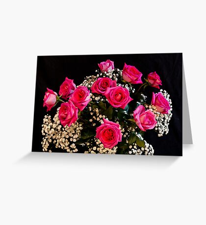 Pink Roses With All My Love Greeting Card