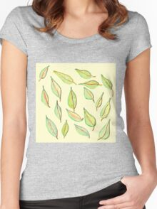 Leaves in the Wind Women's Fitted Scoop T-Shirt