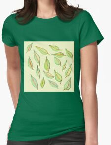 Leaves in the Wind Womens Fitted T-Shirt