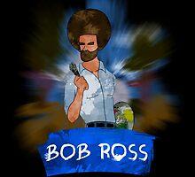 Badass Bob Ross by chaumasaur