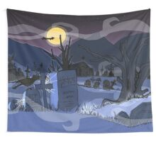 Cemetery / Cementerio Wall Tapestry