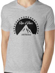 Alpe d'Huez (Black) Mens V-Neck T-Shirt