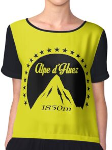 Alpe d'Huez (Black) Chiffon Top