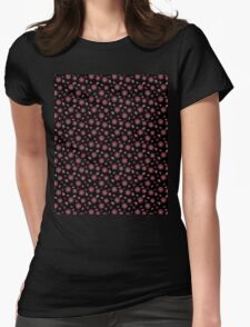 Floating Succulents on Black Womens Fitted T-Shirt