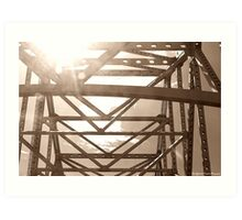 Sun through the Bridge Art Print