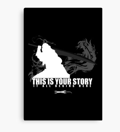 This is your story - Auron Canvas Print