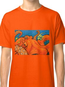 An Enormous Orange Octopus Classic T-Shirt