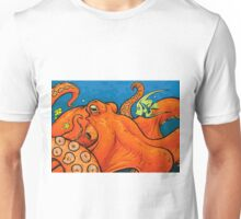 An Enormous Orange Octopus Unisex T-Shirt