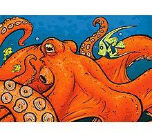 An Enormous Orange Octopus Photographic Print