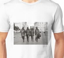 The Beatles in Black and White Unisex T-Shirt