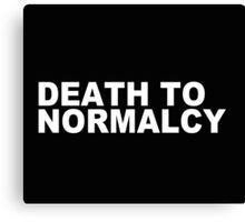 """Death to Normalcy"" - Misha Collins Canvas Print"