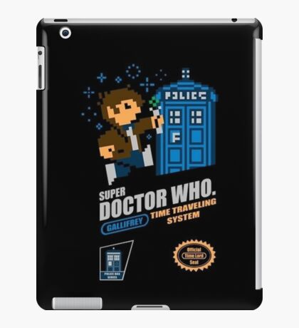 """Doctor Who """"SNES Who"""" iPad Case/Skin"""