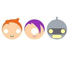 Planet Express Crew (Futurama) - Circley! by apefruit