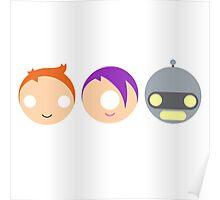 Planet Express Crew (Futurama) - Circley! Poster