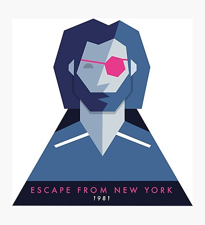 Escape from New York (1981) 80s Sticker Photographic Print