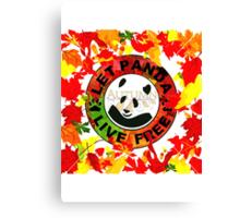 Let panda live free autumn Canvas Print