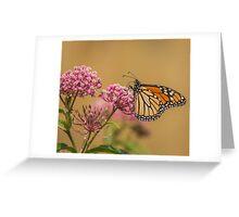 Monarch On Swamp Milkweed Greeting Card