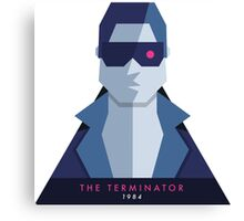 The Terminator (1984) 80s Sticker Canvas Print
