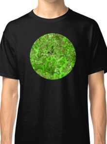 Marble Emerald Green Ruby Red Classic T-Shirt
