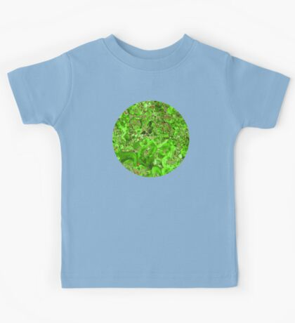 Marble Emerald Green Ruby Red Kids Tee